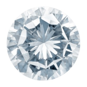 GIA Certified Round cut diamond.  0.56 carats (H Color, I1 Clarity)