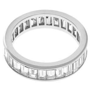 Diamond eternity band in platinum