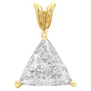 GIA certified trianguler cut diamond 2.49 carat (H color, SI 2 clarity) pendant