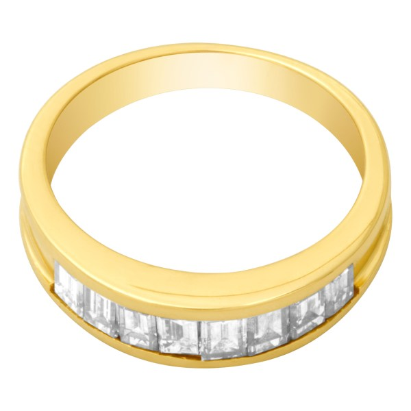 Diamond ring in 18k yellow gold with 1.00 carats in diamonds (G-H, VS)