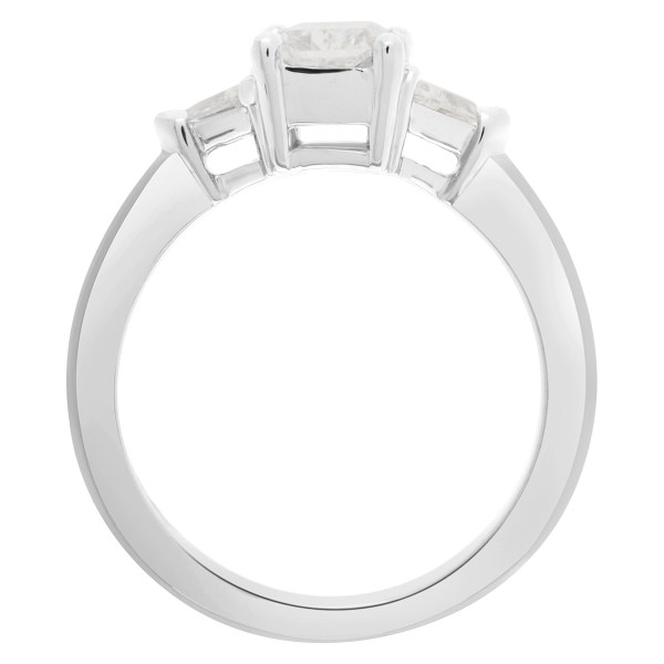 GIA certified cut-cornered rectangular modified brilliant diamond 1 carat (F color, VS2 clarity) ring