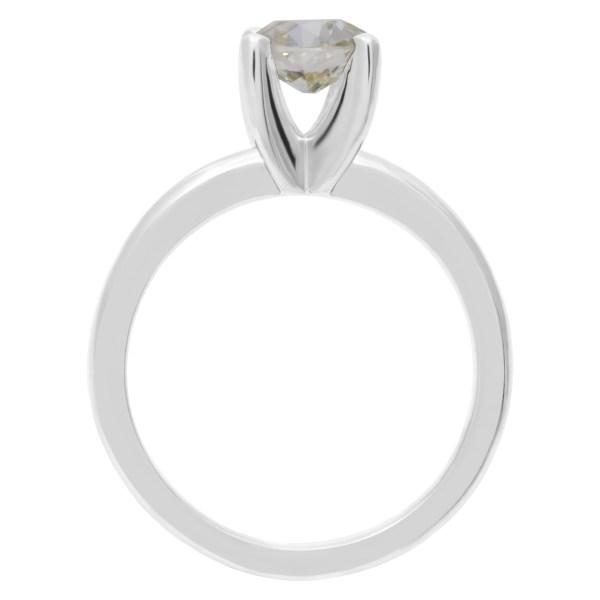 GIA certified old europeam brilliant cut diamond 1.09 carat (O to P range, VS1 clarity) ring set in platinum