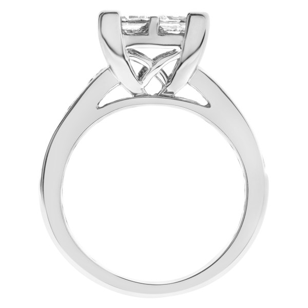 Diamond engagement ring with approx 1.00 carat in diamonds in 14k white gold