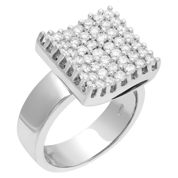 DD Davite & Delucchi Gioielli diamond ring with over 1.20 cts in 18k white gold