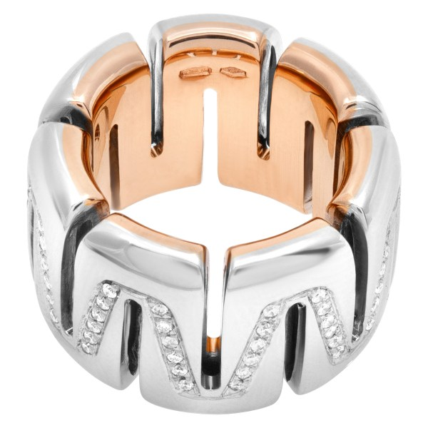 Roberta Porrati wide and heavy wave ring