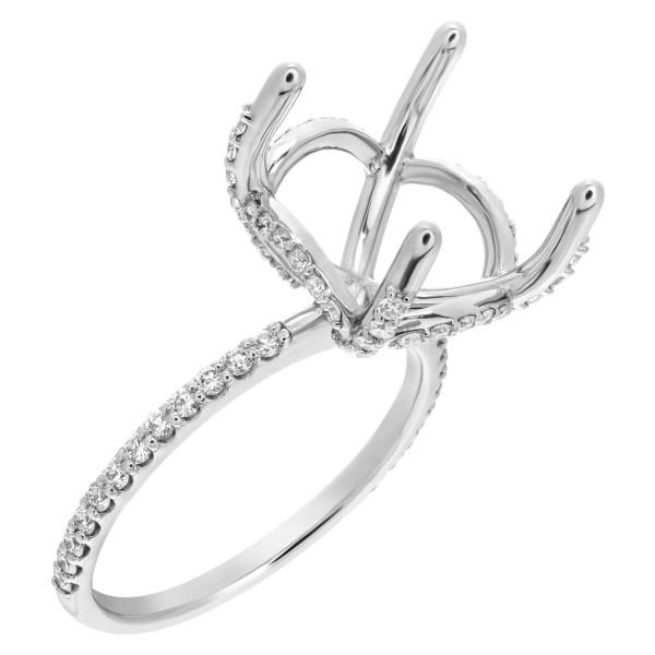 Platinum diamond setting for 13,, stone (6.50- 7cts)