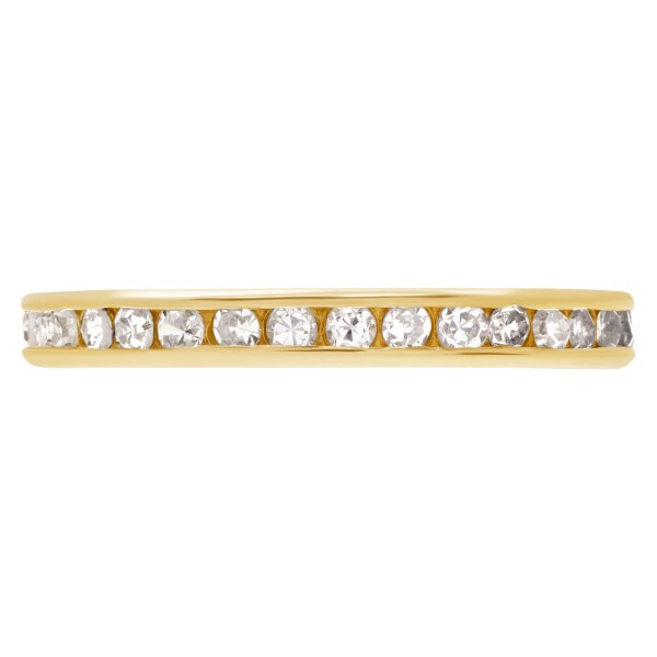 Diamond Eternity Band and Ring in 14k yellow gold