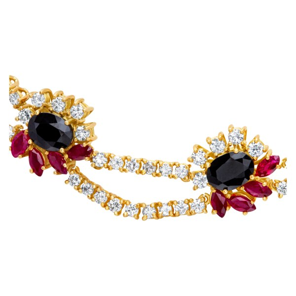 18k necklace earring and ring set with approximately 8.45 carats in diamonds