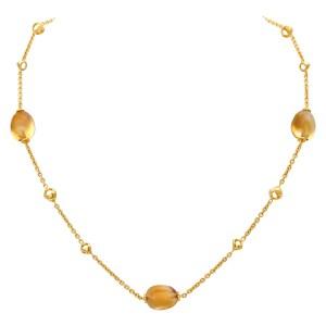 Di Modolo Citrine Triadora necklace in 18k gold