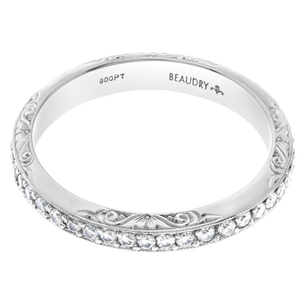 Michael Beaudry Platinum Diamond Eternity Band and Ring 0.44 carats in diamonds