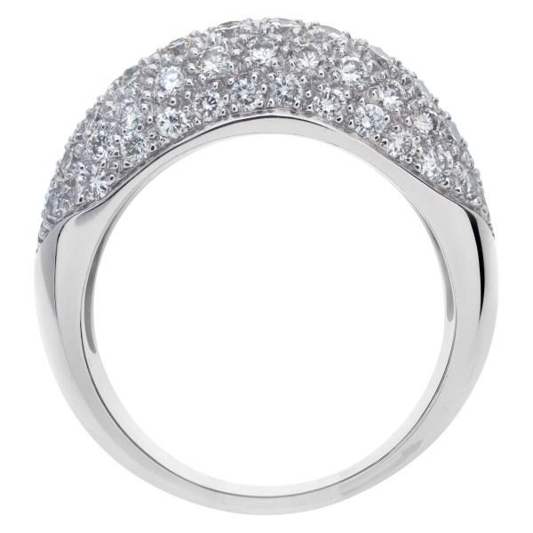 Pave diamond ring in 18k white gold