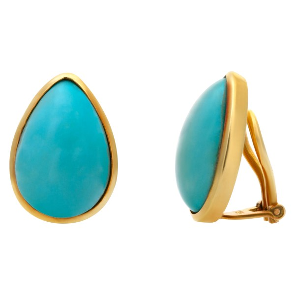 Set for a Queen! Turquoise necklace, earring & ring set in 18k