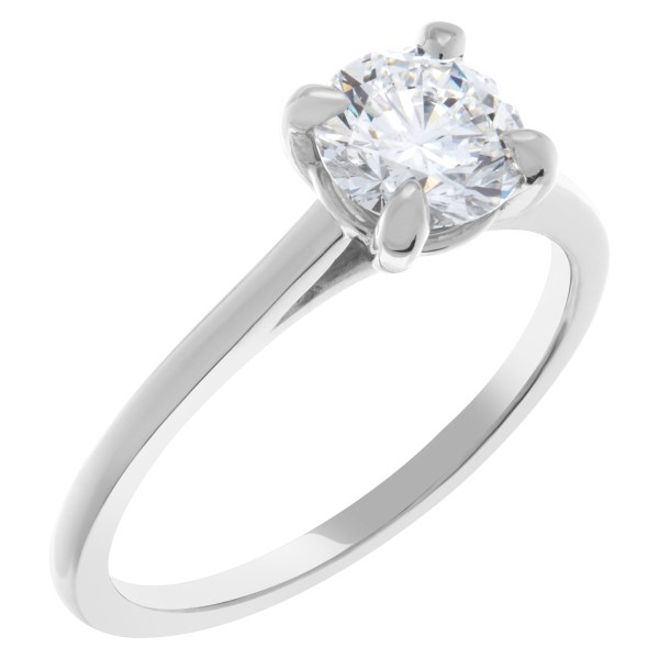 GIA certified round brilliant cut 1.01 carat  (E color, IF clarity)