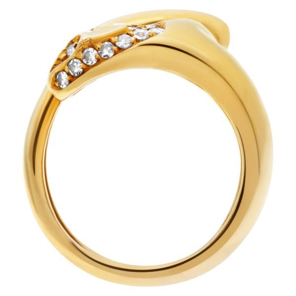 H.Stern wild cat ring in 18k with diamonds