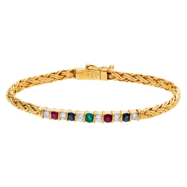 Colorful bracelet in 14k