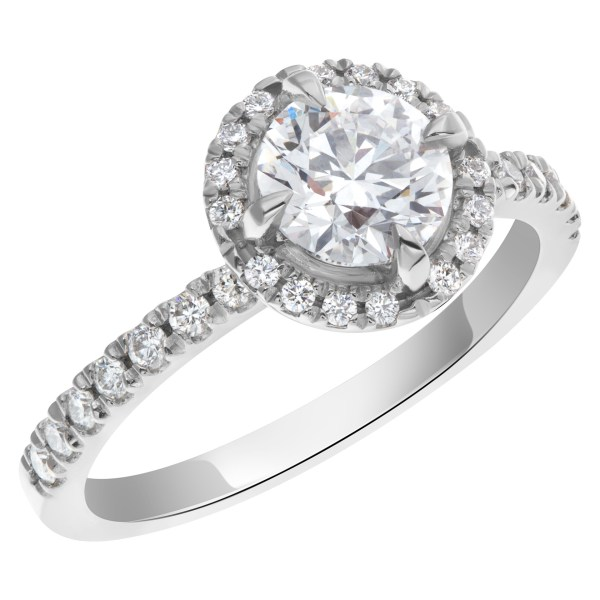 GIA certified 1 carat diamond (D color, Internally Flawless) triple excellent ring