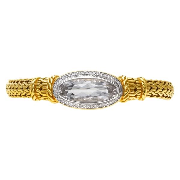 John Hardy diamond 18k gold bracelet