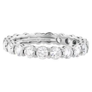 Tiffany & Co. Diamond Eternity Band and Ring platinum ring with 1.80 carat full cut round brilliant diamonds