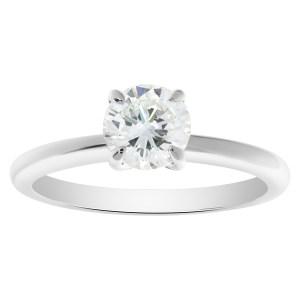 GIA certified round brilliant cut diamond 0.98 carat (G color, VS1 clarity) ring