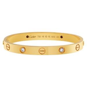 Cartier Love bracelet with 4 diamonds in 18k