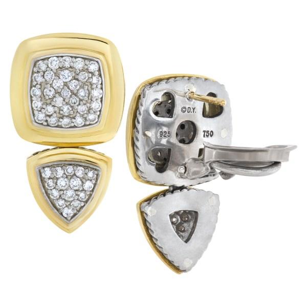 David Yurman Renaissance drop diamond earrings in 18k and sterling silver