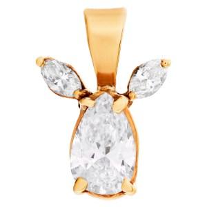 GIA certified pear brilliant cut 1.19 carat diamond (F color, SI1 clarity) pendant