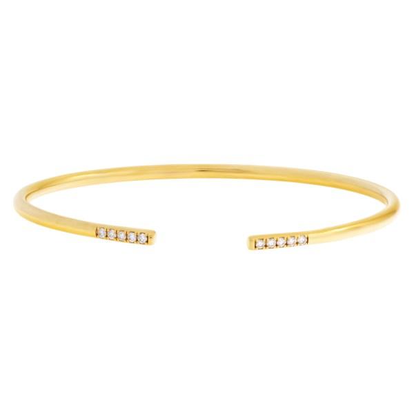 Tiffany & Co Metro wire bracelet bangle with diamonds in 18k