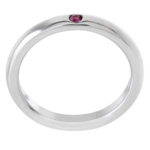 Tiffany & Co. Elsa Peretti sterling silver pink sapphire ring