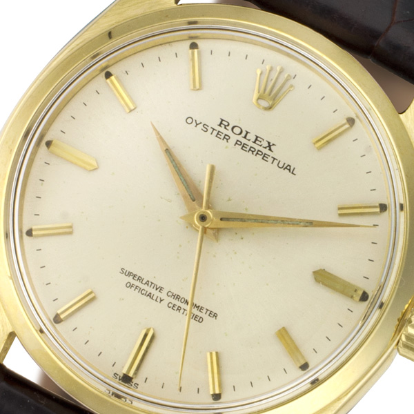 Rolex Oyster Perpetual 1002 14k 34mm auto watch