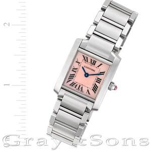 Cartier Tank Francaise W51028Q3 stainless steel 21mm Quartz watch