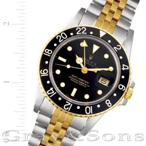 Rolex GMT-Master 16753 18k & steel 40mm auto watch