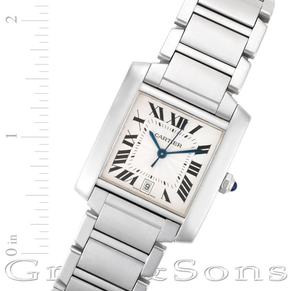Cartier Tank Francaise w51002Q3 stainless steel 28mm auto watch