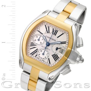 Cartier Roadster W6202721 18k & steel mm auto watch