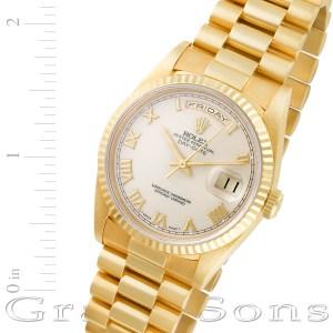 Rolex Day-Date 18238 18k 36mm auto watch
