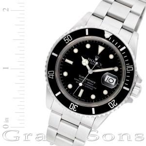 Rolex Submariner 168000 stainless steel 40mm auto watch