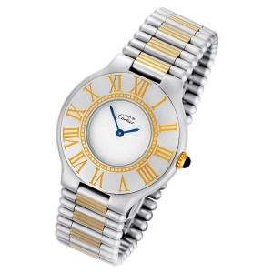 Cartier Must 21 18k & steel 31mm Quartz watch