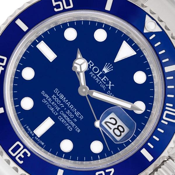 Rolex Submariner 116619 18k white gold 40mm auto watch