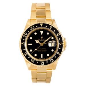 Rolex GMT-Master 16718 18k 40mm auto watch