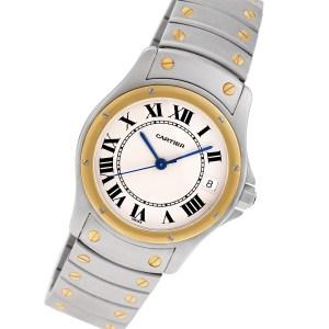 Cartier Santos 1910 18k & steel 34mm auto watch