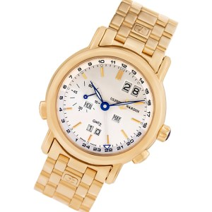 Ulysse Nardin GMT-Master II 326-22 18k rose gold 38mm auto watch