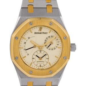 Audemars Piguet Dual Time D79466 18k & steel 36mm auto watch