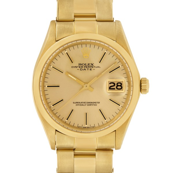 Rolex Date 1500 18k 34mm auto watch
