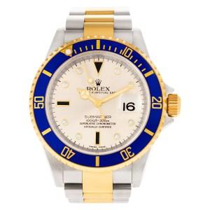 Rolex Submariner 16613T 18k & steel 38mm auto watch