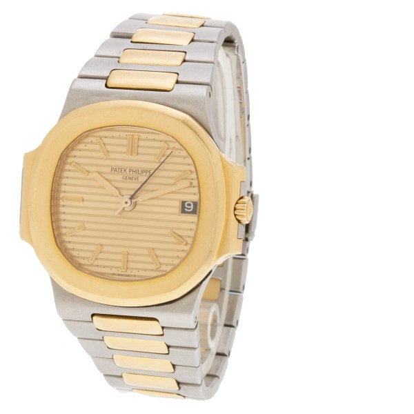 Patek Philippe Nautilus 3800/001 18k & steel 33.5mm auto watch