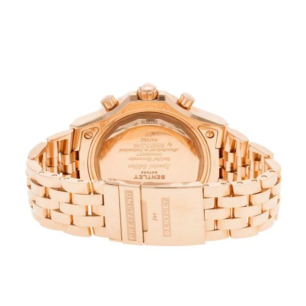 Breitling Bentley R47362 18k pink gold 49mm auto watch