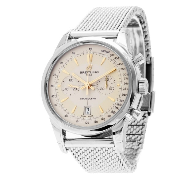 Breitling Transocean Chronograph AB015412/G784-154A stainless steel 43mm auto wa