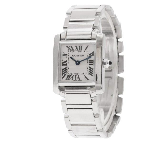 Cartier Tank Francaise w5001253 18k white gold 20mm Quartz watch