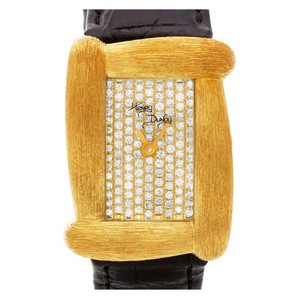 Henry Dunay Sabi 18k 21mm Quartz watch