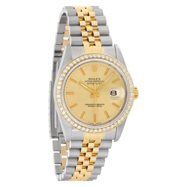 Rolex Datejust 16233 Stainless Steel Gold dial 36mm Automatic watch