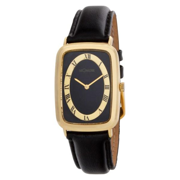 LeCoultre N/A 818 14k Black dial 28mm Manual watch